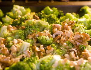 broccoli mixture roasting in the oven