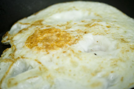 Fried Egg Cooked Hard