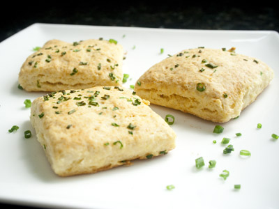 Square Buttermilk Chive & Cheddar Biscuits